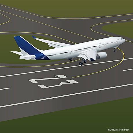 Airbus A330 Landing
