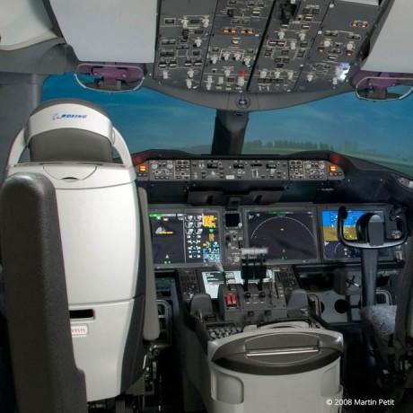 Cockpit d'un Boeing B787
