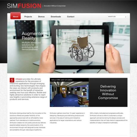 Site internet de Simfusion